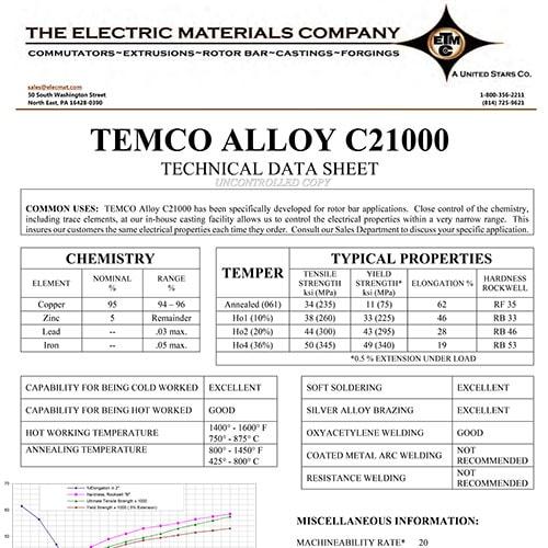 TEMCO Alloy C21000