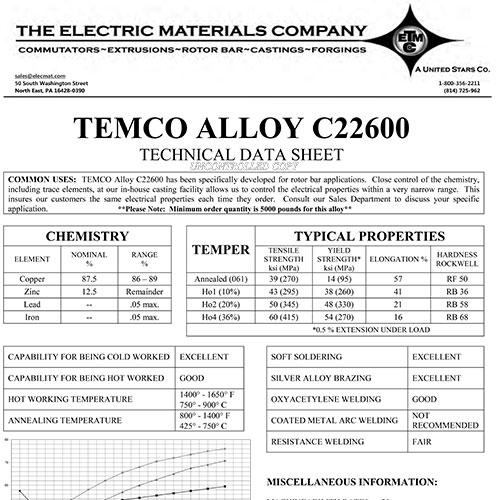 TEMCO Alloy C22600