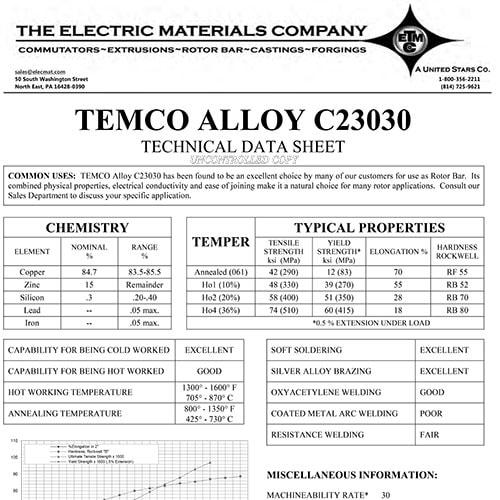 TEMCO Alloy C23030