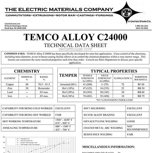 TEMCO Alloy C24000