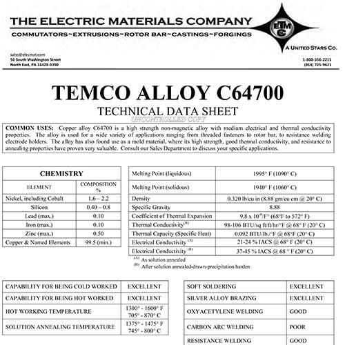 TEMCO Alloy C64700