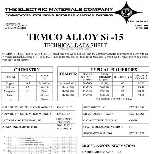 TEMCO Alloy Si-15
